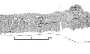 Desarrollo del friso grabado de Peña Lostroso, Cantabria (sg. Teira y Ontañón 1997)