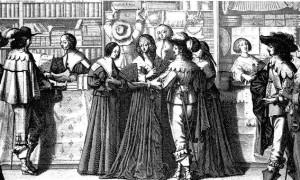 Grabado del s. XVII, Países Bajos.