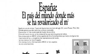 Publicidad en prensa de ARCO '88