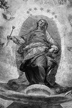Fig. 3. Ludovico Cigoli Ascensión de la Virgen María, 1612, Capilla Paulina, Santa María Maggiore, Roma.