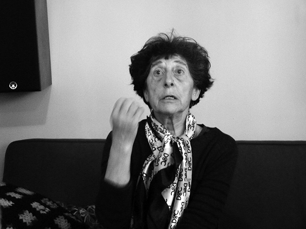 Esther Ferrer durante la entrevista